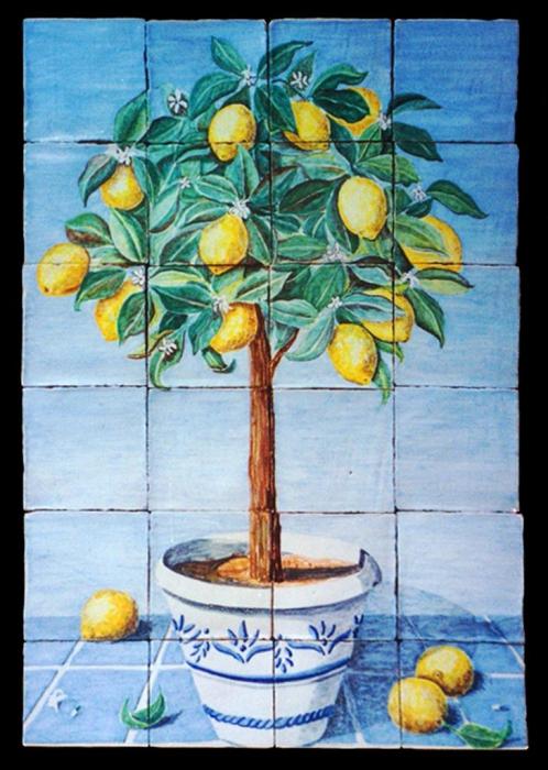 Lemon Tree Artwork Lemon Tree in Pot