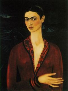 Self-Portrait with Velvet Dress