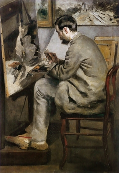 Portrait of Frédéric Bazille Painting