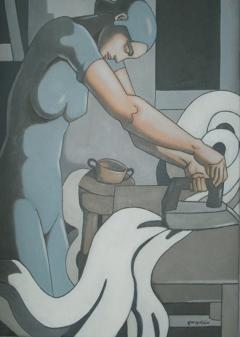 Serie Las trabajadoras. Planchadora I