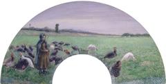 Girl in Field with Turkeys (La Dindonnière)