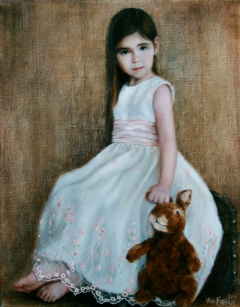 Girl with Toy Rabbit