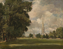 Salisbury Cathedral from Lower Marsh Close