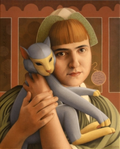 GIRL WITH A TOY CAT