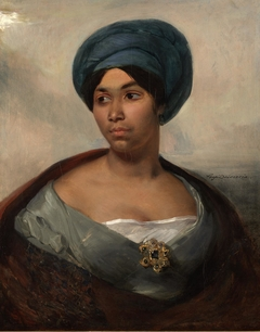Portrait of a Woman in a Blue Turban