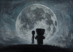 In my dreams you always bring me to the Moon...