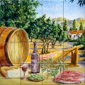 Ham, wine and olives